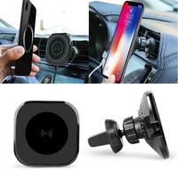 Rotatable Magnetic Wireless Car Charger Phone Within 8mm Charging Mobile Bracket 76% Air Vent Black 10W
