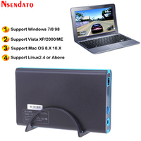 3.5 inch HDD SDD Enclosure Case USB 3.0 5Gbps SATA External Hard Drive Enclosure Support 2TB Drives for Notebook Desktop PC