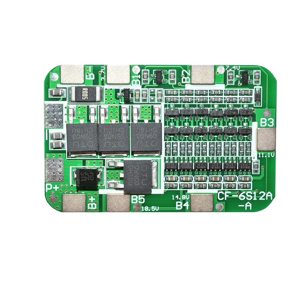 Image 3 - 1PCS 6S 15A 24V PCB BMS Protection Board For 6 Pack 18650 Li ion Lithium Battery Cell Module diy kit-in Battery Accessories from Consumer Electronics