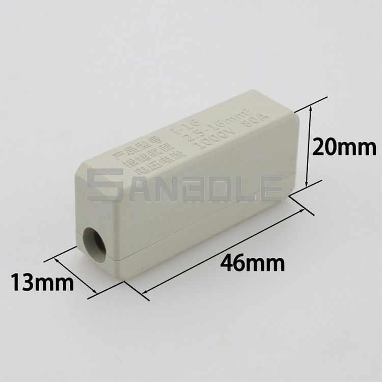 10 כיכר מסוף מעבר חיבור של נחושת-אלומיניום מפרקי חוט מחבר גבוהה כוח 80A/1000V (10 PCS)