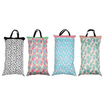 Nappy Bags 1Pc Baby Waterproof Double Zipper Diaper Bag Washable Dry Wet Nappy Pouch 40*70cm Baby Care diaper bag