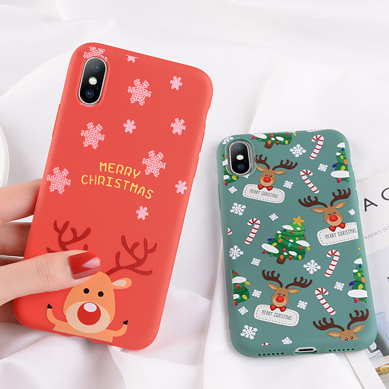 Christmas Phone Case Iphone 7.Uslion Christmas Phone Case For Iphone 7 8 Plus Cartoon Santa Claus Tpu Cases For Iphone Xr Xs Max X 7 6 6s Plus Soft Cover Capa