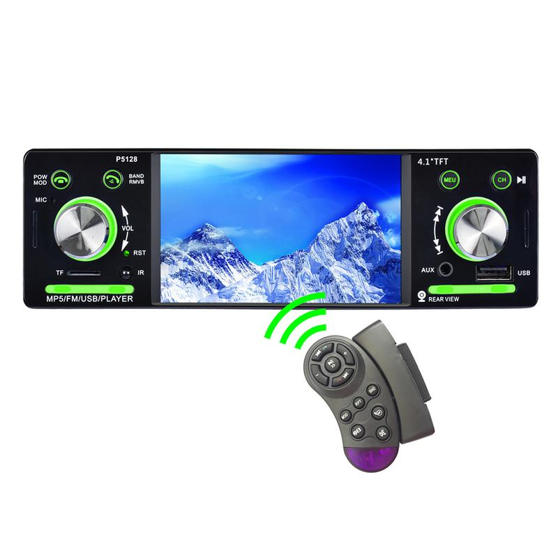Portable Car Steering Wheel Car MP5 Media Player Portable Car Steering Wheel Multimedia DVD controller Key in Remote Controls from Automobiles Motorcycles