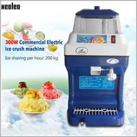 XEOLEO 300W Ice Crusher Commercial Electric Ice crush machine Automatic Ice planer 200kgs/h Ice shaver