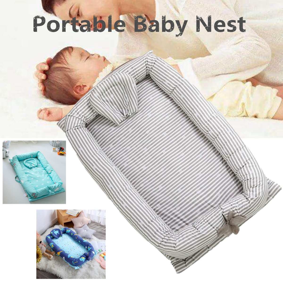 Bébé nid lit berceau Portable amovible lavable lit de couchage bébé sommeil lit de voyage lit pour enfants infantile enfant coton berceau