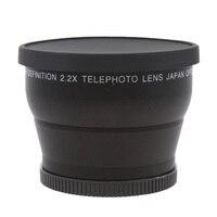 Top 2.2X 58mm Telephoto Lens For Canon Nikon Sony DSLR Camera 18 55mm