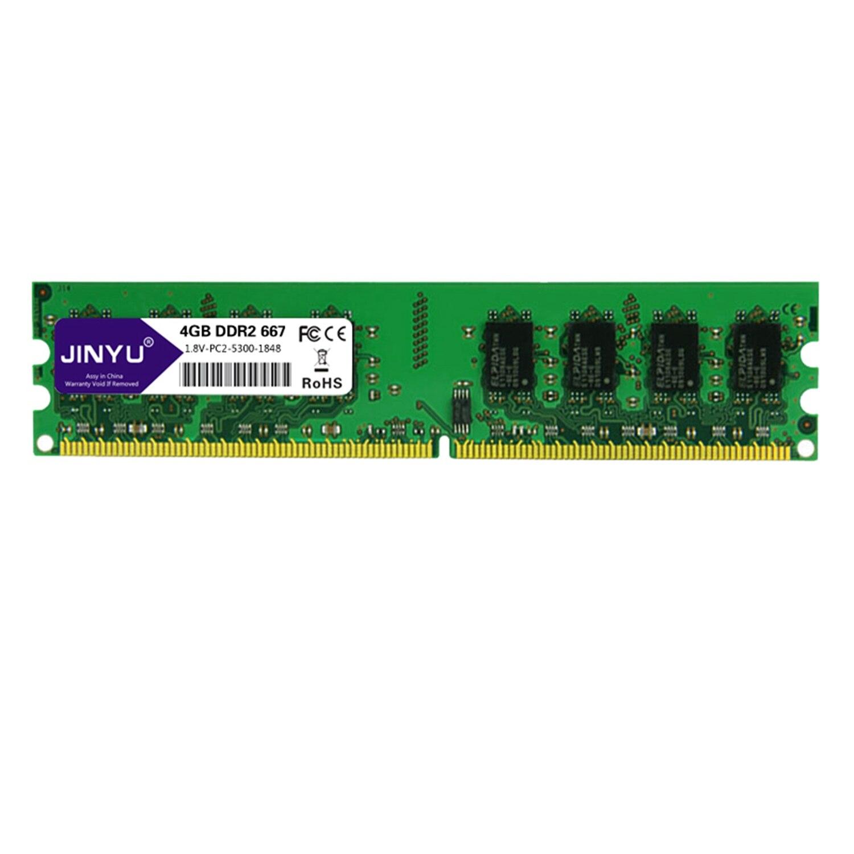 Jinyu Ddr2 4G 1.8 V 240Pin mémoire Ram pour bureau (667 Mhz)