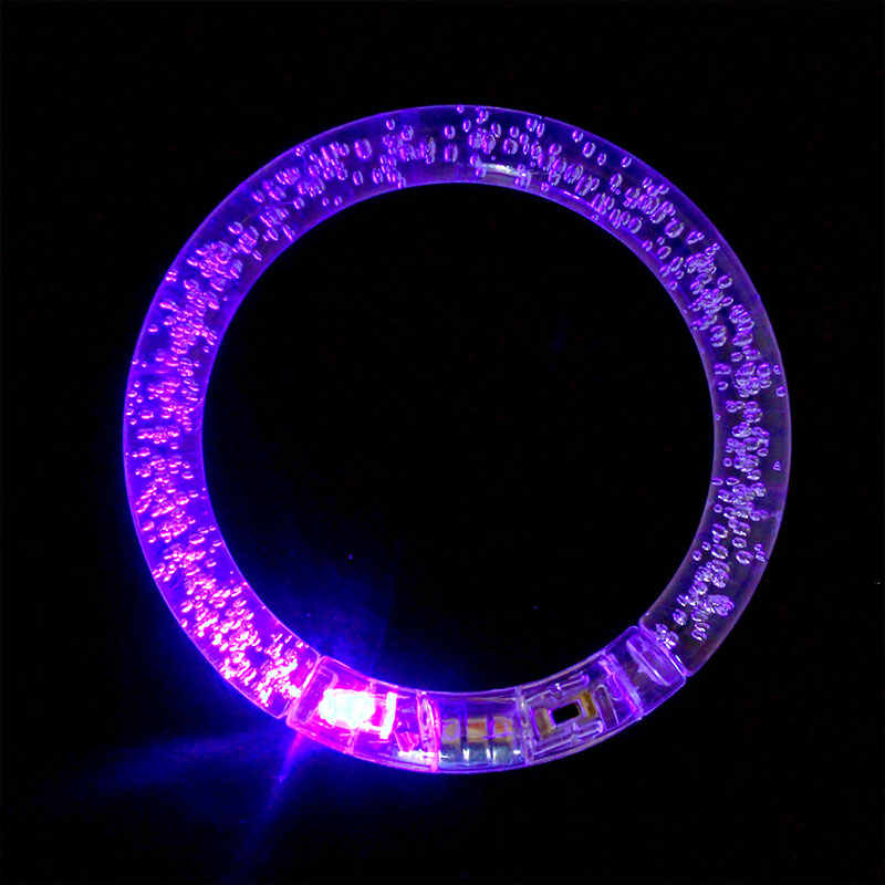 LED Flashing Bracelet Light Up Acrylic Wristband Party Bar Chiristmas luminous bracelet luminous toys for children