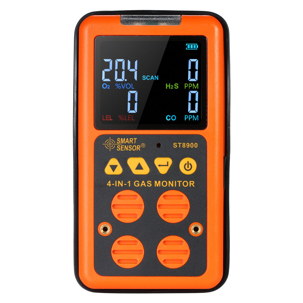 SMART SENSOR 4 in 1 Toxic Sulfide Gas Detector H2S and CO Monitor Industrial Digital Handheld