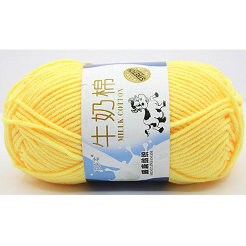 """1 Pc = 50g Baumwolle & Milch Faser Super Soft Stricken Garn Warme Baby Wolle Garn Decke Pullover Diy Handwerk Liefert 2,5mm (1/8 """"), 1 Ball"""