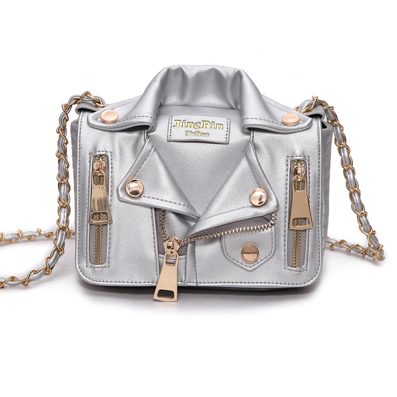Designer Chain Bags Women Clothing Shoulder Rivet Jacket Messenger Bag Women Leather Luxury Handbags Bolsa Feminina Bolsos MujerDesigner Chain Bags Women Clothing Shoulder Rivet Jacket Messenger Bag Women Leather Luxury Handbags Bolsa Feminina Bolsos Mujer