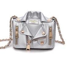 Designer Chain Bags Women Clothing Shoulder Rivet Jacket Messenger Bag Women Leather Luxury Handbags Bolsa Feminina Bolsos Mujer