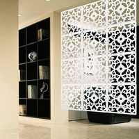 Wall Hanging Room Screen Divider 12Pcs/Lot PVC Curtain Panels Partition Screens Carved Space Division Home Decoration Crafts