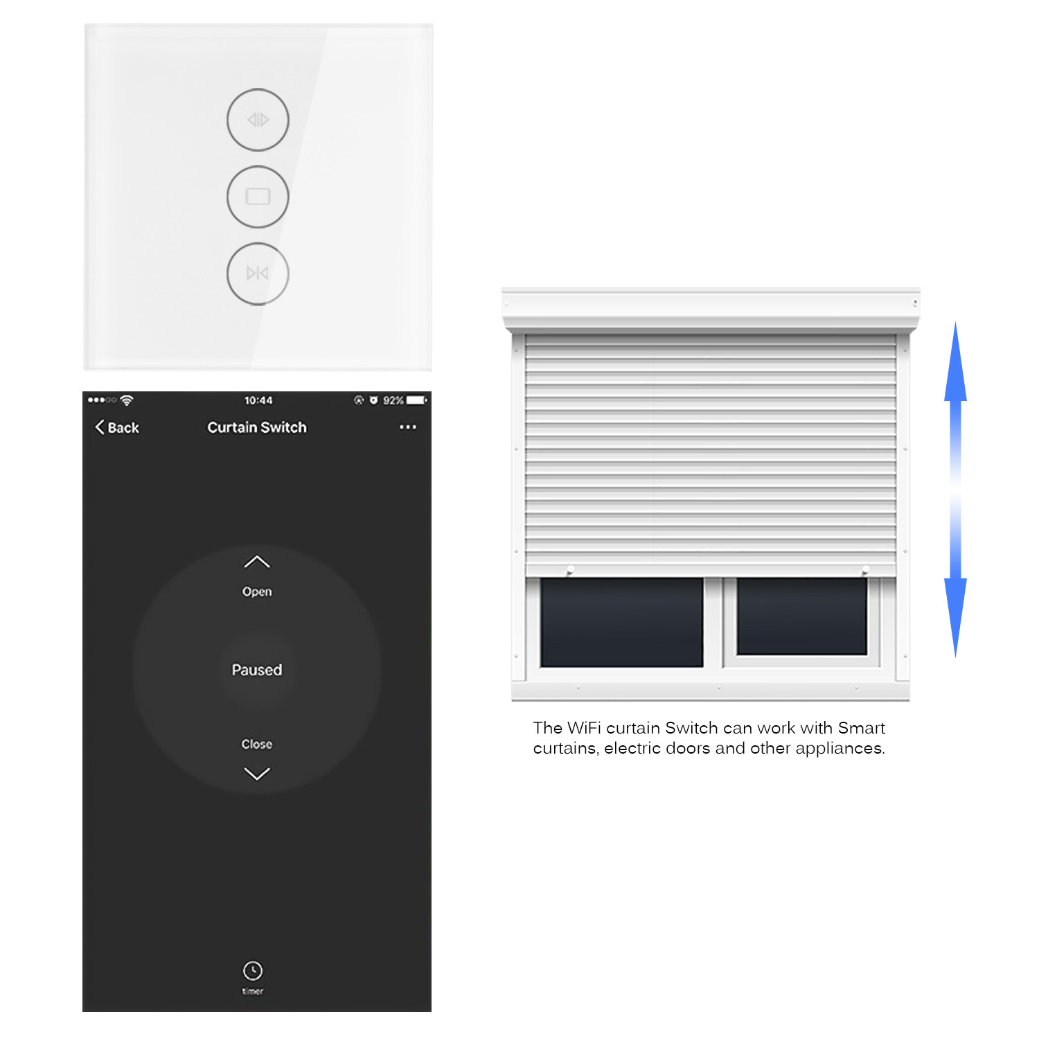 WiFi Electrical AC110 250V For Mechanical Switch Touch APP Voice Control By Alexa