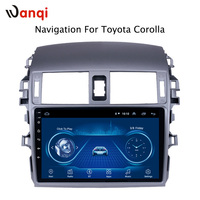 9 inch factory android 8.1 car dvd player For Toyota Corolla 2007 2013 with audio radio multimedia gps navigation system