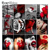 Evershine Diamant Stickerei Mädchen Porträt 5D Diamant Malerei Voll Platz Diamant Mosaik Volle Set Strass Bild Home Decor