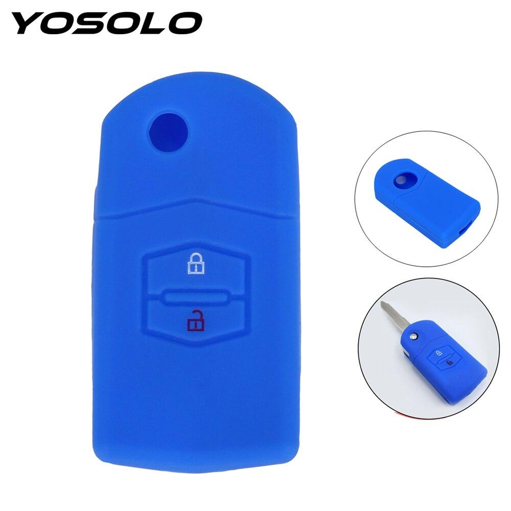 Key Bag Protector For Mazda 3 2 6 2003 2004 2005 2006 2007 2008 2009 2010 2011 2012 2013 Key Holder 2 Buttons Car Key Case Cover