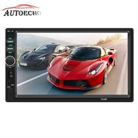 7 2 DIN Car MP4/5 Player Head Unit Support Bluetooth/Reverse Image/Mirror Link With AUX/USB2.0/TF/SD Port Audio Video Player