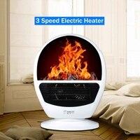 3 Speed Electric Heater Portable Mini Fan Heater Winter Desktop Air Warmer Home Office 220v 300W~600W Household Appliances White