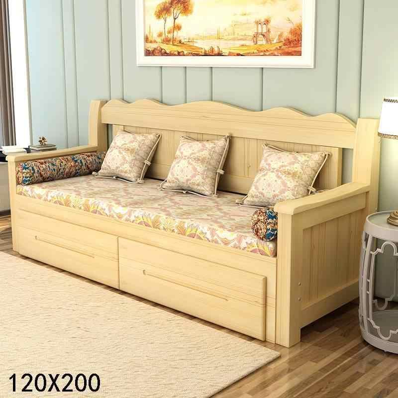 Мобильный Cama плиссированный слоеный Asiento Futon Copridivano Sillon Деревянный Ретро-набор мебель для гостиной мобильный диван-кровать