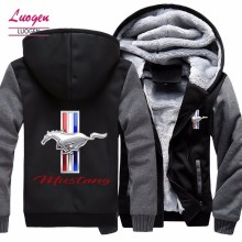 Luogen Drop Shipping Warm Mens Clothing Hoodies Hip Hop Sweatshirts Men Thick Men's Jackets Casual Zip Up Hoody Coats Top Hoodie(China)