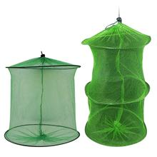 Portable Fishing Net Fish Shrimp Mesh Cage Cast Net Fishing Trap Network Foldable Fishing Net Tackle Outdoor toppory durable fishing net diameter 25cm 34cm stainless ring fishing network large mesh for fish keeping carp fishing tackle