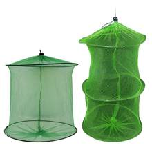 Portable Fishing Net Fish Shrimp Mesh Cage Cast Net Fishing Trap Network Foldable Fishing Net Tackle Outdoor(China)