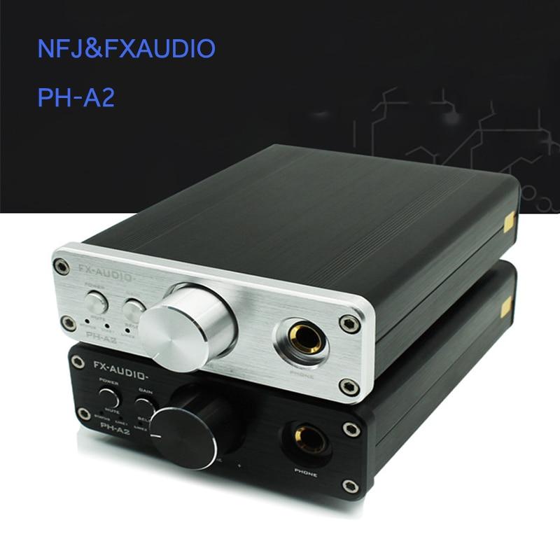 NFJ&FXAUDIO PH-A2 TPA6120A2 HIFI Mini Headphone Amplifier 3.5mm+RCA Desktop Portable Headphone AMP