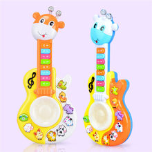 New Baby Kids Musical Educational Guitar Small Deer Drum Piano Multifunctional Music Keyboard Music Toys Instrument(China)