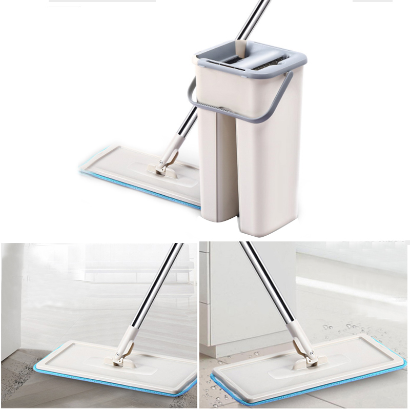 Microfiber Mop Floor Cleaning Flat Squeeze Mop Bucket Hand Free Wringing Stainless Steel Mop Self Wet And Dry Cleaning SystemMicrofiber Mop Floor Cleaning Flat Squeeze Mop Bucket Hand Free Wringing Stainless Steel Mop Self Wet And Dry Cleaning System