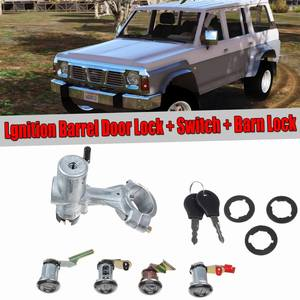 Car Start Switch Kits New Ignition Barrel Door Lock + SWITCH + Barn Lock For Nissan For Patrol GQ Y60 1988-1998(China)