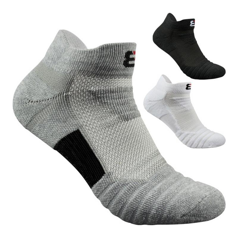 Men Outdoor Sports Basketball Socks Men Football Cycling Socks Compression Socks Cotton Towel Bottom Non-slip Men's Socks