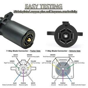 Image 4 - 7 RV ostrze okablowania Tester obwodów hak przyczepy złącze LED wtyczka okrągły