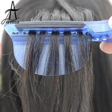 2 шт. 2 в 1 тепловой изоляционный протектор экрана+ Секционирование Заколки для волос для парикмахеров Pro салонное оборудование для наращивания волос