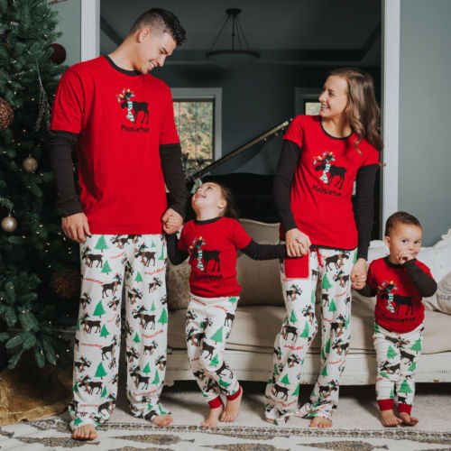 318ae7a6b5 ... Mom Dad Adult Kids Family Christmas Pajamas Couples Matching Clothing  2018 Mother Daughter Father Son Christmas ...