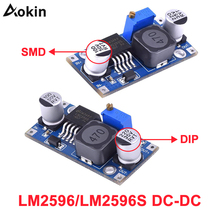 цена на LM2596 LM2596s DC-DC step-down power supply module 3A adjustable step down module LM2596S-ADJ voltage regulator 24V 12V 5V 3V