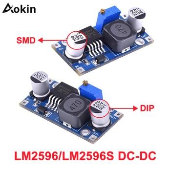 nc dc dc dc 12v to 5v adjustable step down module constant voltage constant current voltage regulator module 30v LM2596 LM2596s DC-DC step-down power supply module 3A adjustable step down module LM2596S-ADJ voltage regulator 24V 12V 5V 3V