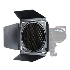 Image 2 - Godox BD 04 porta do celeiro + grade favo de mel + 4 filtro cor vermelho/azul/verde/amarelo para bowen montagem refletor padrão flash acessórios