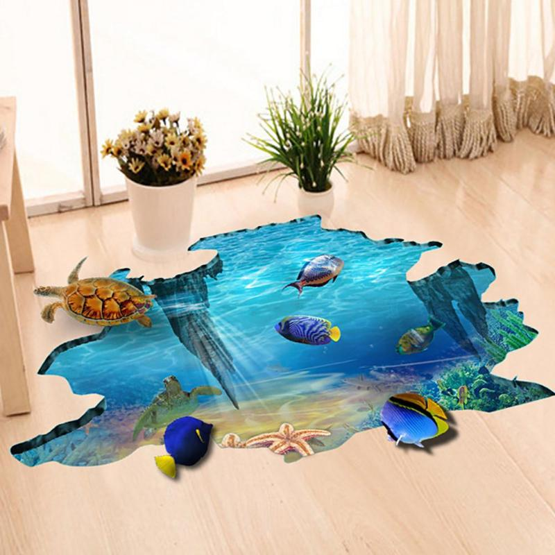 3D PVC Waterproof Self Adhesive Wall Stickers DIY ...