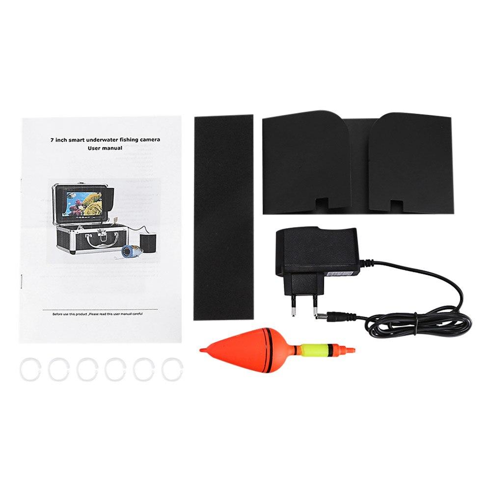 7.0 pouces HD 1000TVL sous-marin poisson trouveur caméra de pêche vidéo pêche vidéo caméra Kit 15 pièces blanc LEDs Fishfinder 15 m gamme - 6