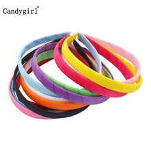 12pcs Candy Colored Headbands Kid Women Hairbands Headpiece Ribbon Wrapped Headwear Children Hair Accessories Band