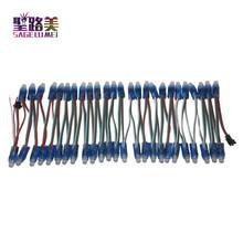 1000 pièces 12mm WS2811 couleur LED Pixel Module de lumière DC 5V entrée IP68 étanche rvb couleur 1903 IC numérique LED lumière de noël