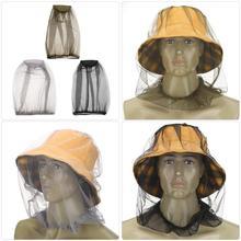 Походные кепки для рыбалки против насекомых, комаров шляпа от насекомых москитная сетка головы Защита для лица