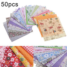 50pcs New Cotton Fabric 10*10cm Square Fabric Cloth Bundle Patchwork Clothing Sewing Quilting for Crafts DIY Doll Needlework 100pcs 10x10cm square floral cotton fabric diy sewing doll quilting patchwork textile cloth bags crafts