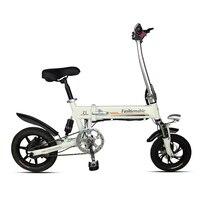 Dobrável scooter elétrico mini duas rodas bicicleta elétrica 14 Polegada 250w branco/preto portátil fpldable bicicleta elétrica