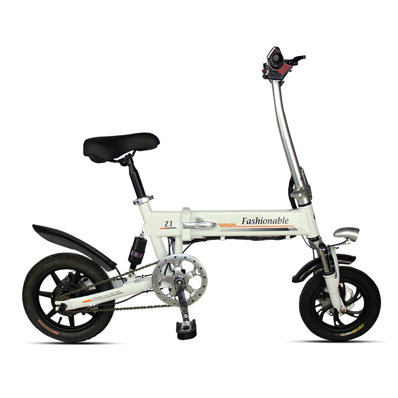 Folding Electric Scooter Mini Two Wheels Electric Bicycle 14 Inch 250W White/Black Portable Fpldable Electric Bicycle Bike|Electric Bicycle|   - title=