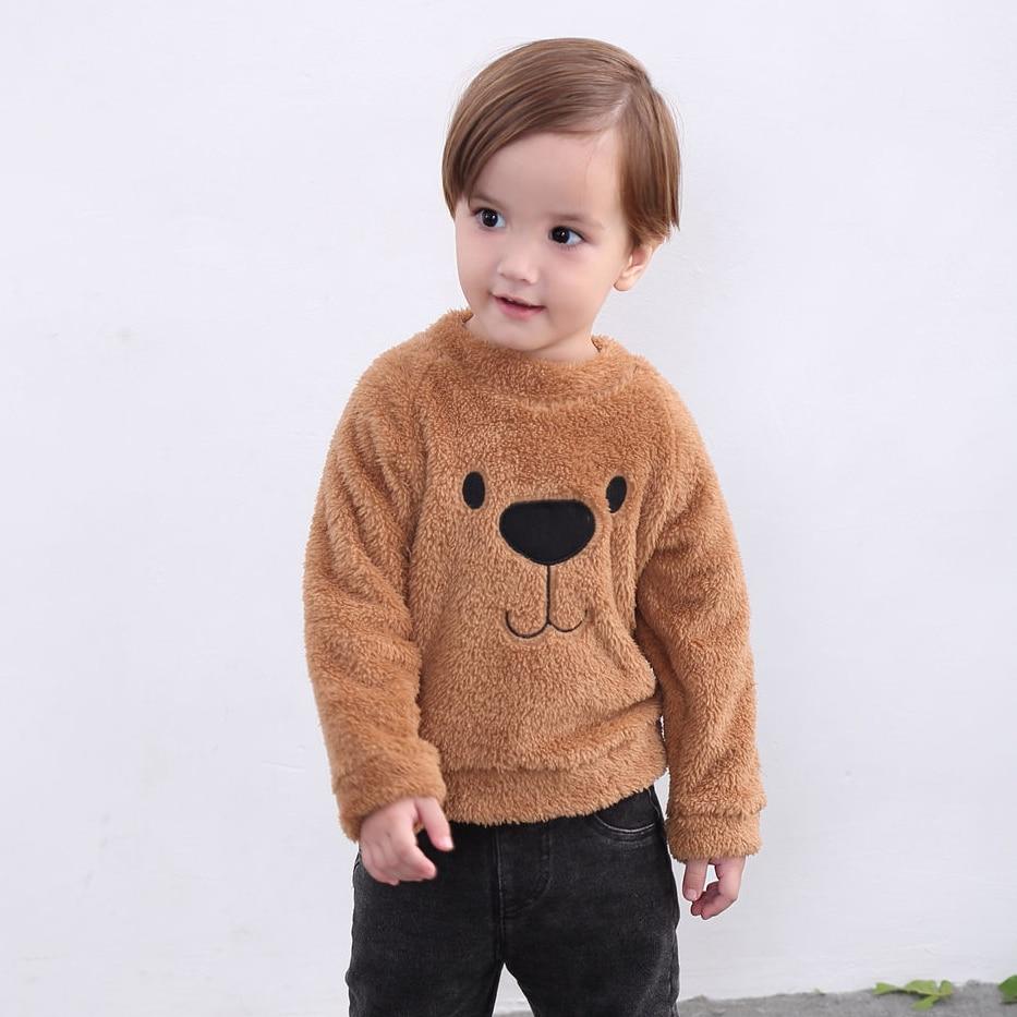 1-5 T Infant Kinder Baby Mädchen Jungen Herbst Kleidung Elegante Langarm Nette Bär Hoodie Tops Cartoon Bär Mode Sweatshirt