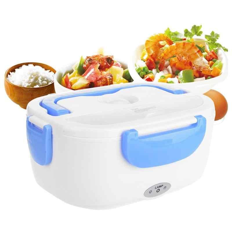 1.05l portátil aquecimento elétrico lancheira alimentos-grau bento recipiente de alimentos suporte aquecedor de alimentos plug ue dupla camada design 2 cor