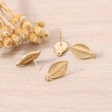 Badu DIY Leaf Stud Earrings Cute Lovely Small Studs Women Fashion Jewelry Earring Gift for Girls Wholesale