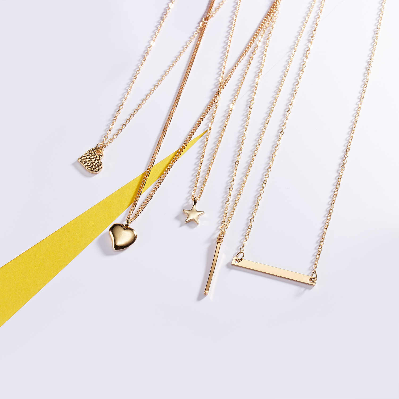 Fashion Warna Emas Getaran Yang Baik Hanya Matahari Kalung & Liontin untuk Wanita Perhiasan